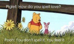 How do you spell love Piglet