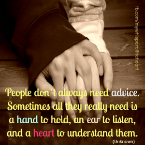 a hand and heart