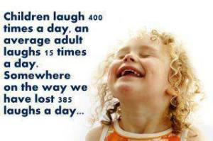 a child laughs 400x a day