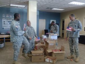 soliders with candy