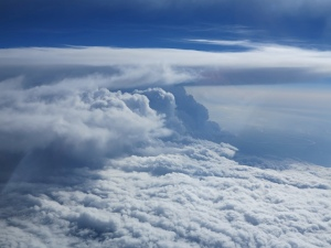 Cloud storm from plane